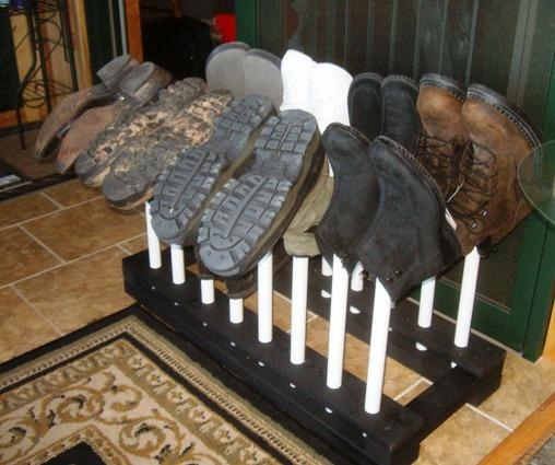 Perfect Free Coat And Boot Rack Image: How To Build A Boot Rack Or Shoe Rack