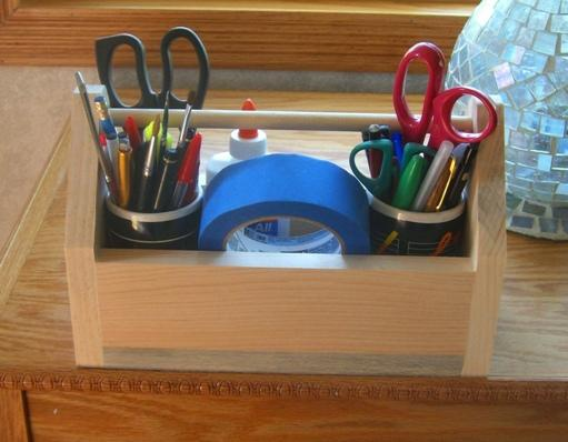 childs wooden tool box caddy