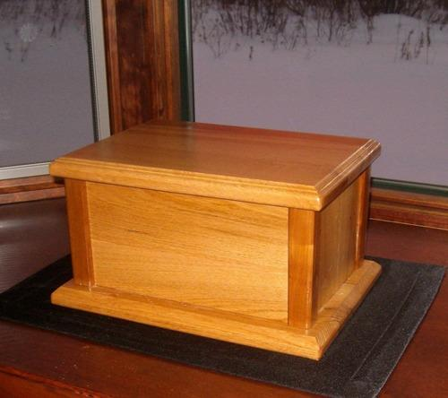 plans to build wood urn for pet