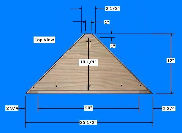 ... Shelf - Determine the desired size of the Corner Shelving Unit