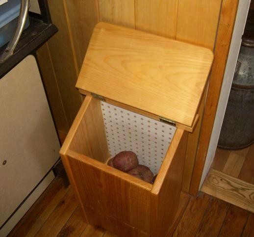 how to build a potato onion storage bin