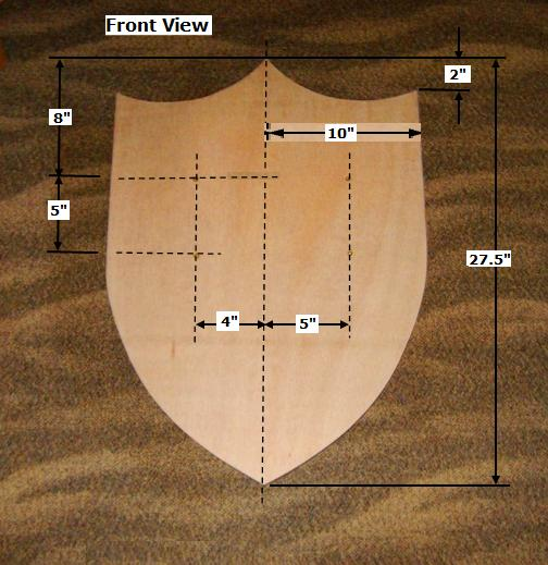 Free Wooden Medieval Shield Plan - How to Make A Toy Wood ...