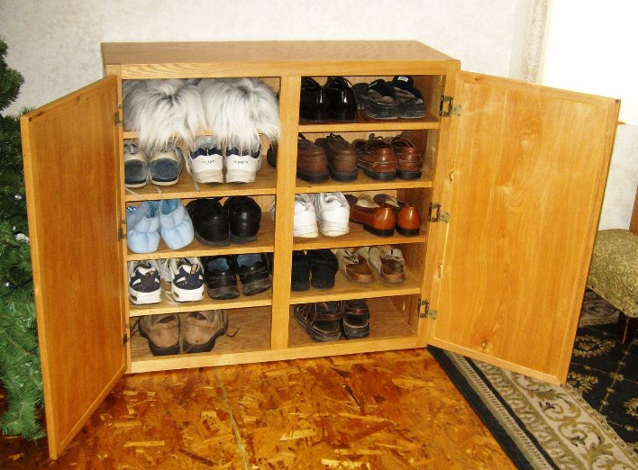 wooden shoe shelf plans