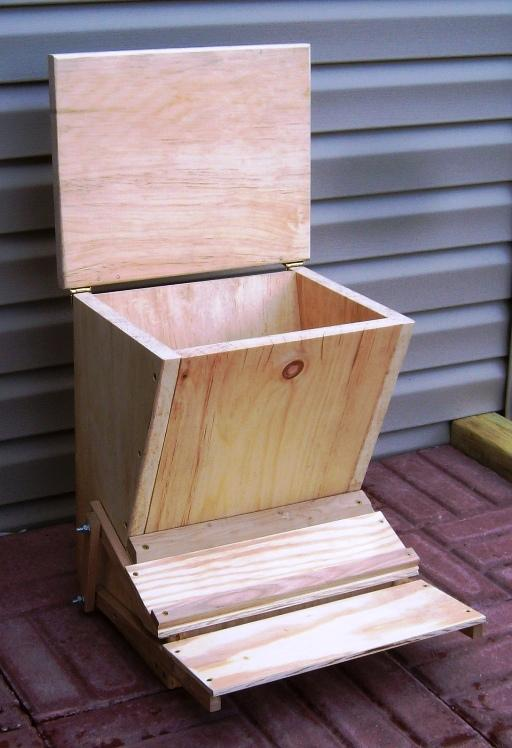 Free Chicken Feeder Plans How To Build A Treadle Feeder
